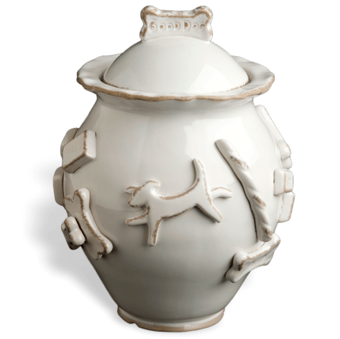 $64.00 Treat Jar - French White