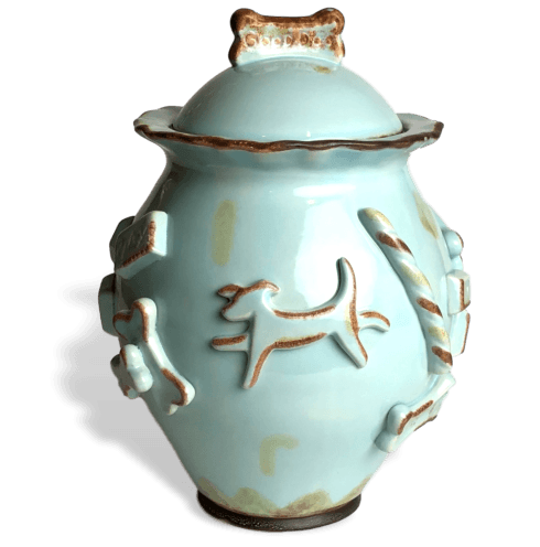 $64.00 Treat Jar - Baby Blue