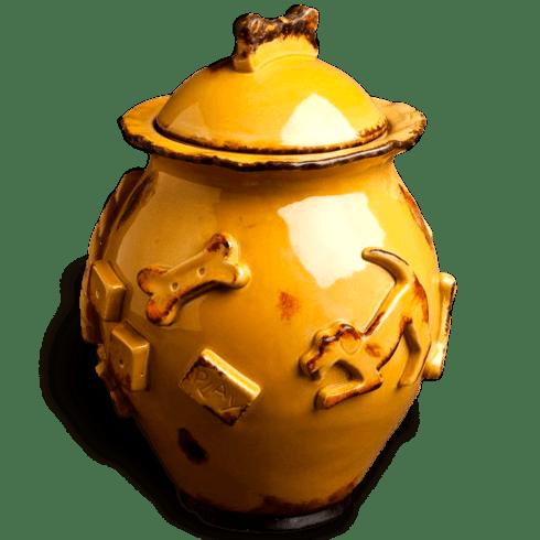 $64.00 Treat Jar - Caramel