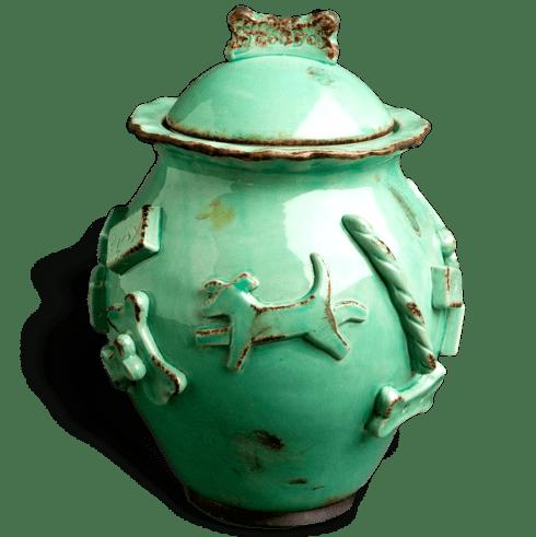 $64.00 Treat Jar - Aqua/Green