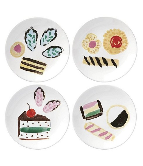 $40.00 One Smart Cookie set of 4 appetizer plates