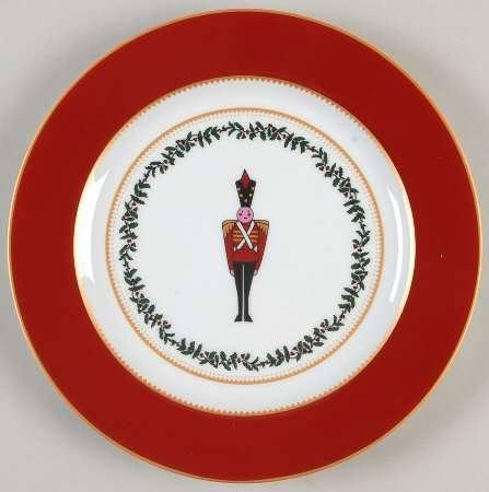 $64.00 Grenadiers red soldier salad plate
