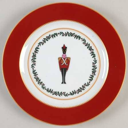 $64.00 Grenadiers red soldier salad plate
