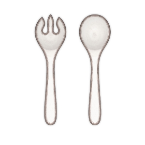 Rustica White salad servers collection with 1 products