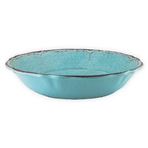 $45.00 Antiqua Turquoise salad bowl