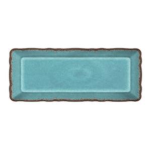 $22.00 Antiqua Turquoise baguette tray