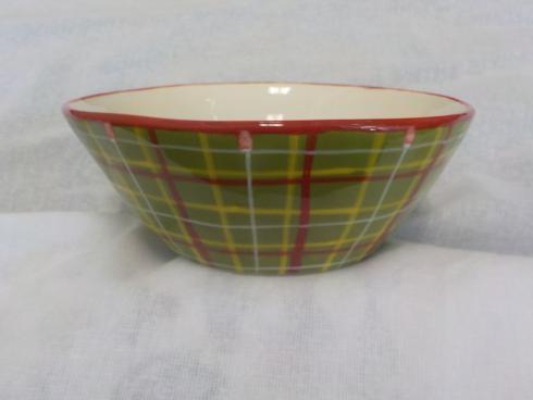Tartan Christmas cereal bowl