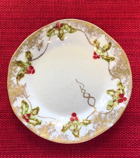 Christmas Gold salad plate