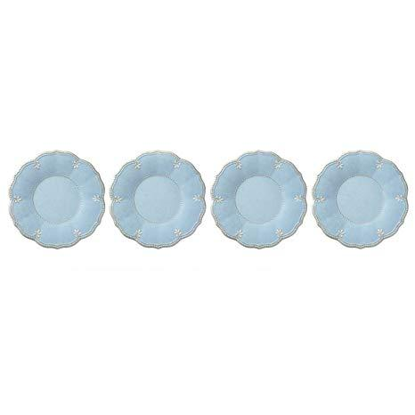French Perle Melamine Blue salads set of 4 collection with 1 products