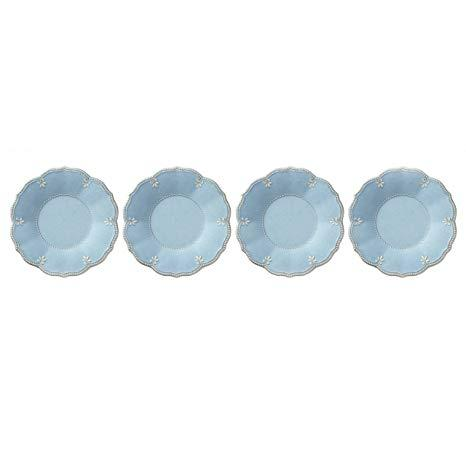 French Perle Aqua Melamine set of 4 salads collection with 1 products