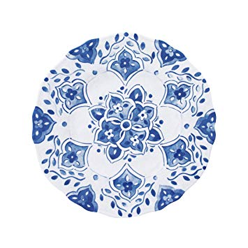 $16.00 Moroccan Blue salad plate