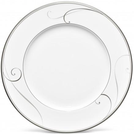 $40.00 Platinum Wave dinner plate