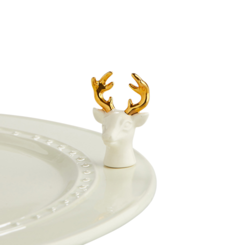 Nora Fleming  Minis white deer $14.00