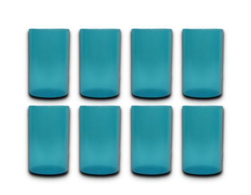 Turquoise set of 8 tumblers collection with 1 products