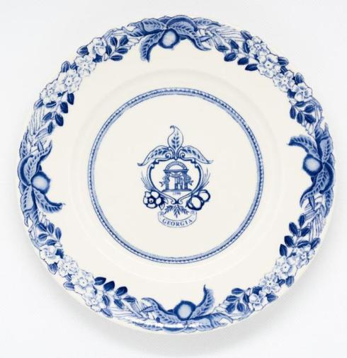 Georgia Historial Plates   Georgia Crest blue salad $55.00