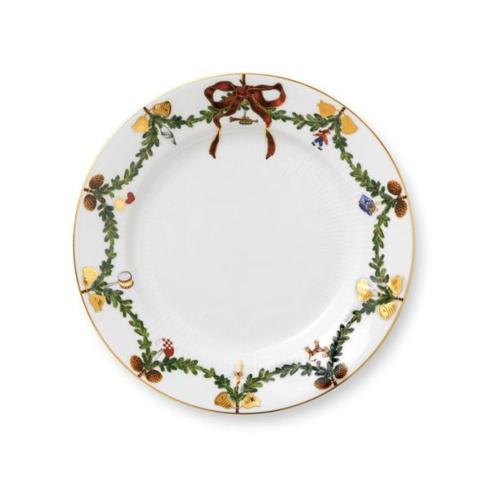 Oneida   Royal Copenhagen Star Fluted Christmas salad plate $60.00