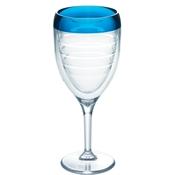 $20.00 Blue Wine Glass