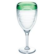 $20.00 Green Wine Glass
