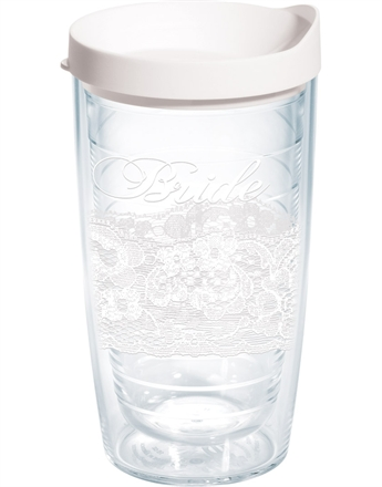 $16.00 Bride Lace 16 oz Tumbler