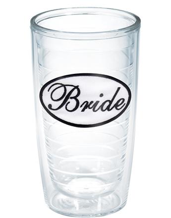 $16.00 Bride 16 oz Tumbler (w/ lid)