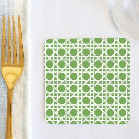 $26.00 Apple Green Cane Coasters