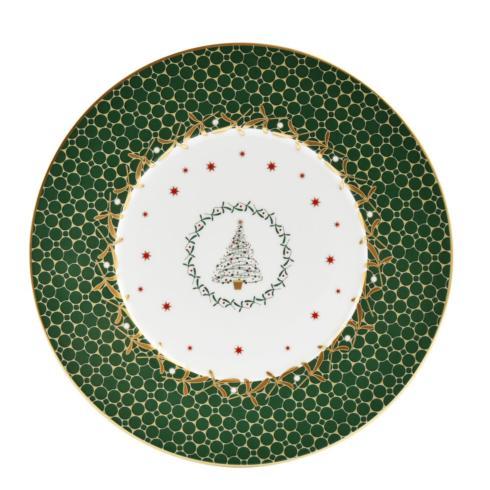 $68.00 Noel Green Tree salad plate