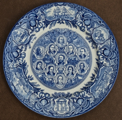 Georgia Historial Plates   Colonial & Revolutionary Portraits dinner $60.00