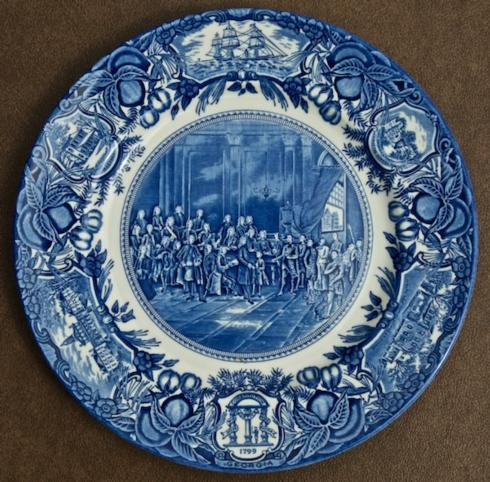 Georgia Historial Plates   Oglethorpe & Trustees dinner $60.00