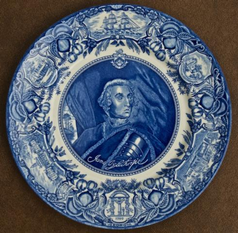 Georgia Historial Plates   General James Oglethorpe dinner $60.00