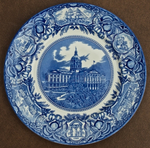 Georgia Historial Plates   Atlanta Capital dinner $60.00