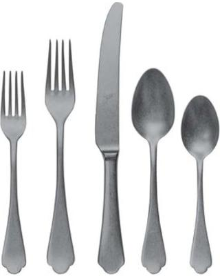 $80.00 Dolce Vita Pewter flatware 5 piece place setting