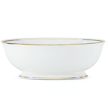 $215.00 Federal Gold open vegetable bowl