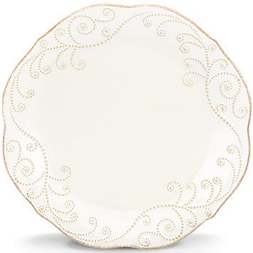 French Perle White dinner plate collection with 1 products