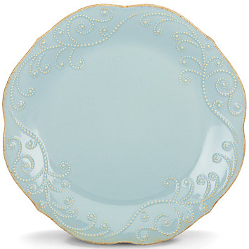 French Perle Ice Blue dinner plate collection with 1 products