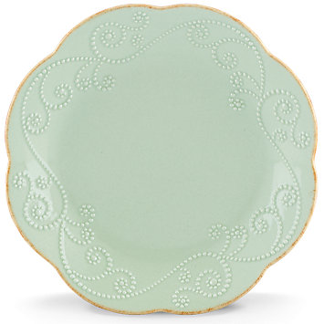 French Perle Ice Blue salad plate collection with 1 products