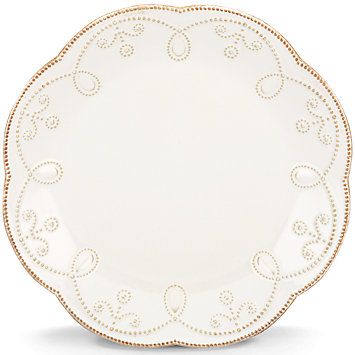 French Perle White salad plate collection with 1 products
