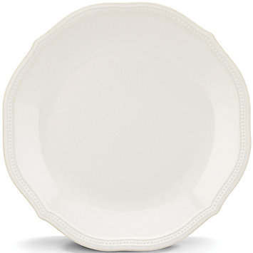 French Perle Bead White dinner plate collection with 1 products