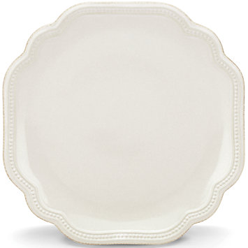 French Perle Bead White salad plate collection with 1 products