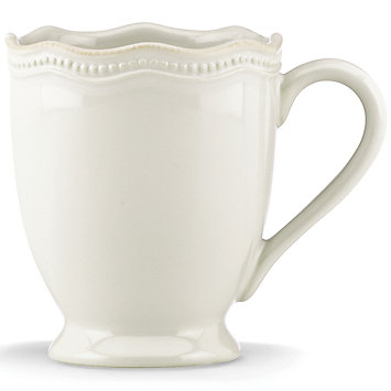 French Perle Bead White mug collection with 1 products