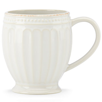 French Perle Groove White mug collection with 1 products