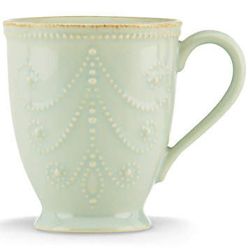 French Perle Ice Blue mug collection with 1 products