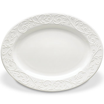 Opal Innocence Carved Lg Oval Platter collection with 1 products