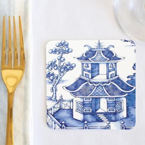 $26.00 Blue Pagoda Coasters