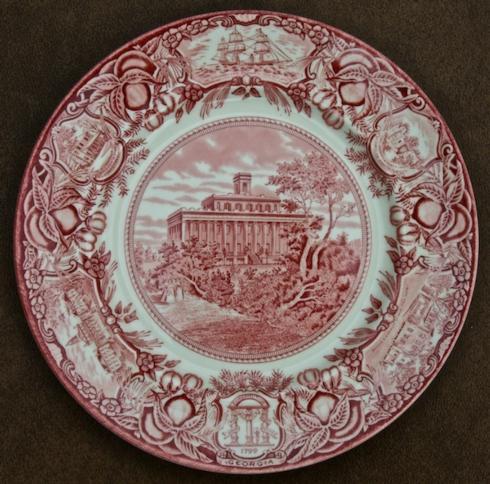 Georgia Historial Plates   Wesleyan College dinner $60.00