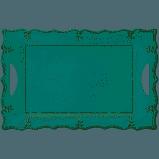 $43.00 French Perle Aqua Melamine rect platter