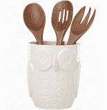 Cannon Street Owl utensil crock with servers collection with 1 products