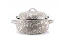 $58.00 Taupe Swirl Dutch Oven