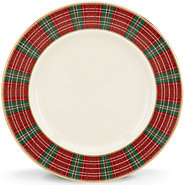 Winter Greetings Plaid salad plate collection with 1 products