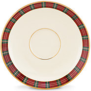 Winter Greetings Plaid saucer collection with 1 products