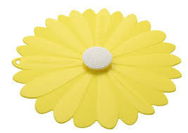 "$15.00 Yellow daisy 11"" lid"